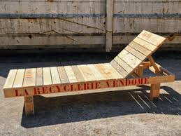 chaise longue palette régie de quartiers de vendôme meubles en palettes