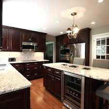 Kitchen Cabinets Espresso Espresso Kitchen Cabinets With White Subway Tile Backsplash