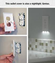 Bathroom Lights With Outlets Outlet Cover With Nightlight Home Pinterest Cabinet