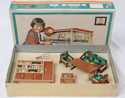 Modern Doll House Furniture by Rare Mid Century Modern Dollhouse Furniture Set Puppen Mobel