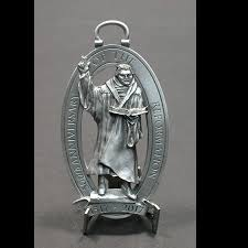 martin luther pewter ornament schumann sculpture metal