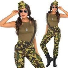 army soldier costume womens ladies camo uniform fancy