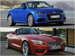 audi tt m 2015 audi tt roadster vs 2014 bmw z4 roadster comparison