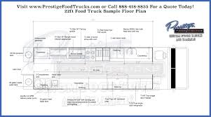 custom plans custom food truck floor plan sles prestige custom food truck
