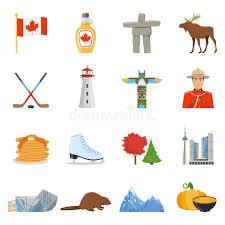 kanada fläche nationale sonderzeichen flache ikonen sammlung kanadas