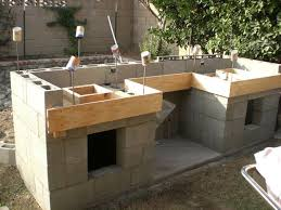 Outdoor Kitchen With Concrete Countertops 8 Steps With Picture by Build A Backyard Barbecue 13 Steps With Pictures