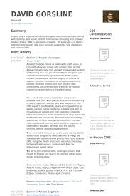 Sample Resume For 2 Years Experienced Software Engineer by Senior Software Developer Resume Samples Visualcv Resume Samples