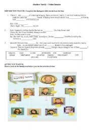 english teaching worksheets modern family