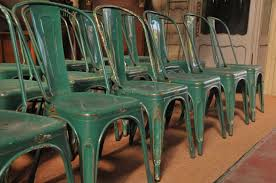 Vintage Bistro Chairs Set Of 18 Vintage Tolix A Bistro Chairs In Green Sold