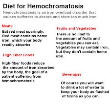 hemochromatosis diet chemical elements