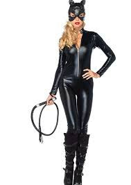 Leopard Halloween Costumes Girls Leather Cat Halloween Costumes Women Leopard Cat Cosplay