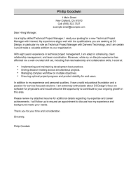 Best Technical Resumes by Best Technical Project Manager Cover Letter Examples Livecareer