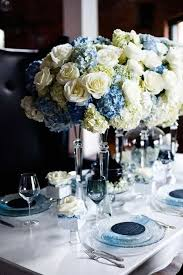 White Roses Centerpieces by Best 25 Blue Wedding Centerpieces Ideas On Pinterest Blue