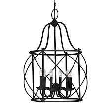 Metal Chandelier Frame Interior Unique Black Metal Frame 6 Light Blacksmith Cage