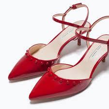 red kitten heel pumps fs heel
