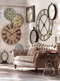 Home Decor Clocks Wondrous Wall Clock Decorating Idea 37 Wall Clock Home Decor Ideas