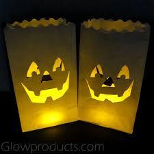led pumpkin tea lights luminary bags with tea lights pumpkin face