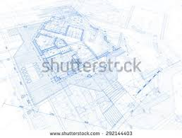 blueprints for house architecture design blueprint house plan green stock vector