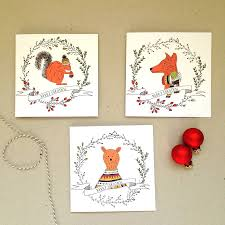 jumper woodland animal card pack by louise