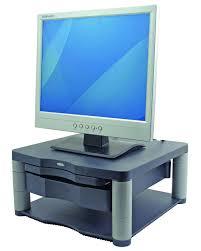 fellowes premium adjustable monitor riser plus platinum amazon