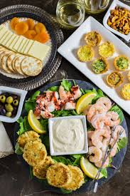 cuisine appetizer seafood appetizer platter with mustard sauce tasty