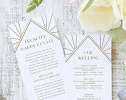 deco wedding program deco wedding program diy etsy