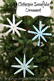 clothespin snowflake ornament tutorial u create