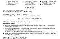 New Teacher Resume Examples Download Resume Example For Teachers Haadyaooverbayresort Com