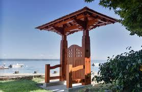 Japanese Style Pergola by Woodworking Japanese Garden Gate Timber Framing Youtube