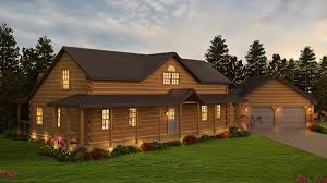 log home floor plans with garage the housatonic log cabin floor plan includes garage