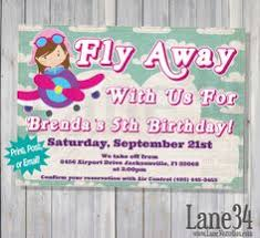 airplane birthday invitation ticket by swishdesigns on etsy