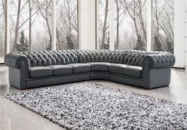 Grey Tufted Sectional Sofa by Chesterfield Sofa Grey Leather Sectional Sofa