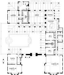 Tuscan Farmhouse Plans Home Plans House Plan Courtyard Home Plan Santa Fe Style Home