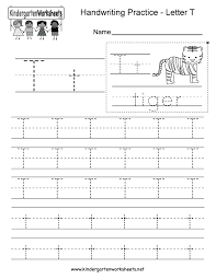 letter t handwriting practice worksheet this would be great for