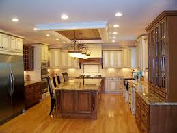kitchen lighting layout with recessed lighting inwhite ceiling