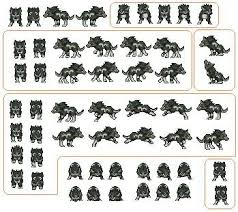 wolf sprite sheet fuse beads pinterest sprites wolves and wolf