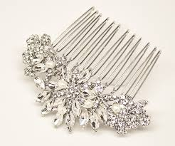 bridal hair comb rohanita rhinestone comb in silver silver pearl gold and
