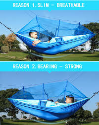 1 2 person outdoor mosquito net parachute hammock camping hanging