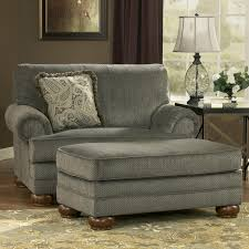 One And A Half Chair Perfect Overstuffed Chairs With Ottoman Furniture Stylish Chair