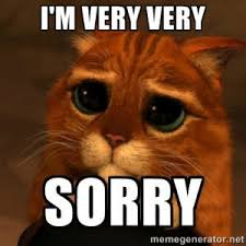 Sorry Meme - dealing with difficult customers and the art of the apology 129