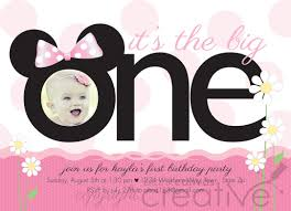 template sophisticated minnie mouse birthday invitations blank