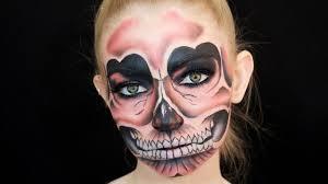 Skull Face Makeup Halloween Pink Skull Fancy Dress Halloween Makeup Tutorial How To