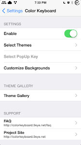 themes color keyboard color keyboard lets you completely theme your iphone keyboard
