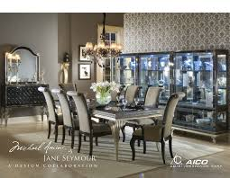buy hollywood swank dining table set caviar finish by aico from