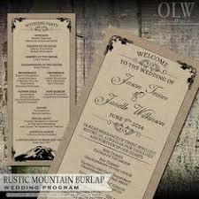 burlap wedding programs diy rustic wedding programs deer fishing theme my