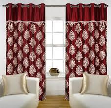 Door Curtains Buy Home Eyelet Fancy Polyester 2 Door Curtain Set