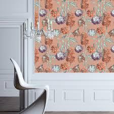 tempaper saffron hydrangea wallpaper hy084 the home depot