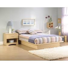 Natural Pine Bedroom Furniture by South Shore Canyon Platform Bed Set Hayneedle