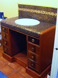 Bathroom Vanity Chest by We Could Convert That Antique Desk Into A Bathroom Vanity With
