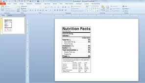 nutrition facts template sanjonmotel